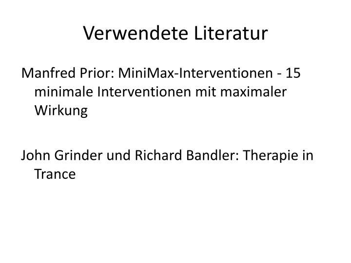 Verwendete Literatur