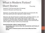 what is modern fiction short stories thursday