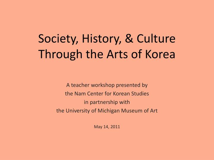 society history culture through the arts of korea n.