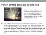 person centred dementia care training