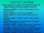 context author
