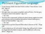 pertinent figurative language