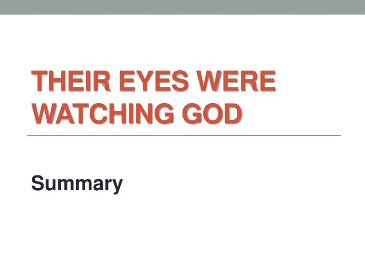 their eyes were watching god n.