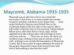 maycomb alabama 1933 1935