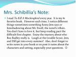 mrs schibillia s note