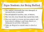 signs students are being bullied