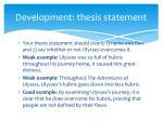 development thesis statement