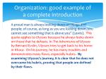 organization good example of a complete introduction