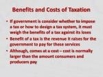 benefits and costs of taxation