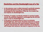 elasticities and the deadweight loss of a tax2
