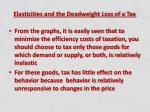 elasticities and the deadweight loss of a tax3
