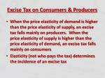 excise tax on consumers producers