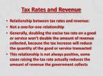 tax rates and revenue1