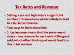 tax rates and revenue3