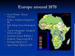 europe around 1870