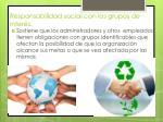 responsabilidad social con los grupos de inter s