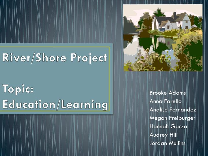 river shore project topic education learning n.