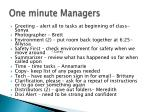 one minute managers