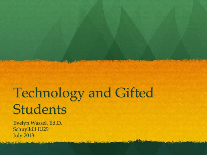 technology and gifted students n.