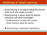 attributes of ideal learning2