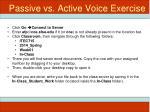 passive vs active voice exercise
