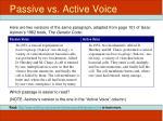 passive vs active voice