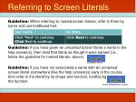referring to screen literals2