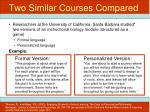 two similar courses compared