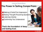 the power in selling comes from