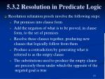 5 3 2 resolution in predicate logic