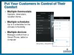 put your customers in control of their comfort