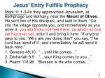 jesus entry fulfills prophecy