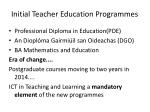 initial teacher education programmes