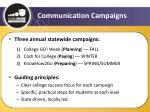 communication campaigns