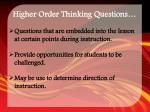 higher order thinking questions