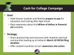 cash for college campaign