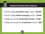 student scholarship contests