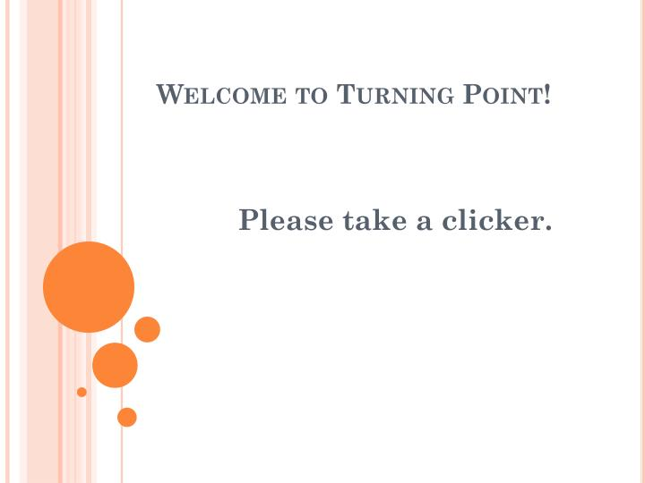 welcome to turning point n.