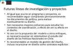 futuras l neas de investigaci n y proyectos