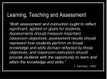 learning teaching and assessment
