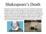 shakespeare s death