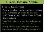 1 socio technical system