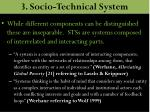 3 socio technical system