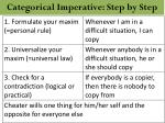 categorical imperative step by step