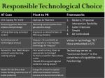responsible technological choice