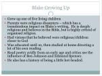 blake growing up