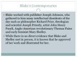 blake s contemporaries