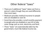 other federal taxes