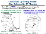 advanced operating modes also achieved in dt plasmas