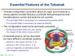 essential features of the tokamak